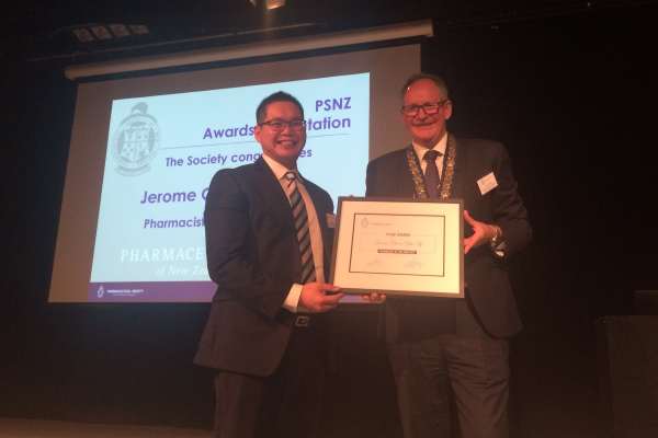 Jerome Ng - Pharmacist of the Year 2017 (PSNZ)